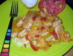 American Cajun Spiced Shrimps Dinner