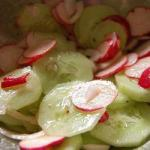 Australian Cucumber Salad with Radishes Appetizer