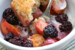 British Blackberrypeach Cobbler with Sour Cream Biscuits Recipe Breakfast