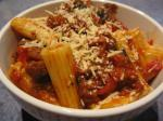 American Rigatoni With Tomato Eggplant  Red Peppers Appetizer