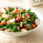 American Warm Green Bean and Potato Salad Appetizer