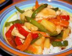 American Sweet  and  Sour Chicken Dinner