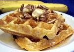 American Banana Waffles With Toasted Pecans Breakfast