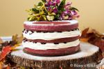 British Red Velvet Naked Cake with Drunken Cherries for Our th Wedding Anniversary  Roxyands Kitchen Dessert