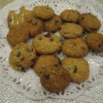 American Oatmeal Biscuits with Chocolate and Cranberries Dessert