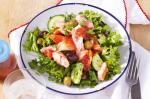 American Salmon And Olive Salad With Spicy Tomato Dressing Recipe Appetizer