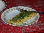 French Shrimp and Spinach Omelet Appetizer