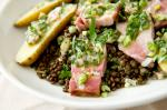 French Warm Lentil and Smoked Pork Belly Salad Recipe Appetizer