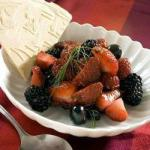 American Summer Fruit Salad with Fresh Berries Dessert