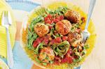 Canadian Spinach Linguine With Chicken And Pea Meatballs Recipe Appetizer
