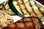 American Grilled Zucchini and or Eggplant aubergine Appetizer