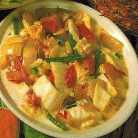 Malaysian Vegetables in Coconut Milk Appetizer