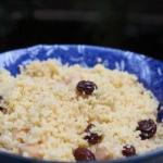 Moroccan Couscous with Chick Peas and Dried Grapes Appetizer