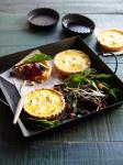 British Goats Cheese Tarts with Beetroot Salad Appetizer