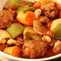 American German Sausage Stew Dinner