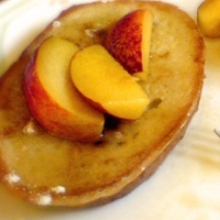Canadian French Toast with honeyed Fruit Breakfast
