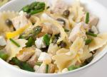 American Chicken Pasta Salad with Asparagus and Lemoncaper Vinaigrette Dinner