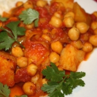 Indian Chickpea Curry Appetizer