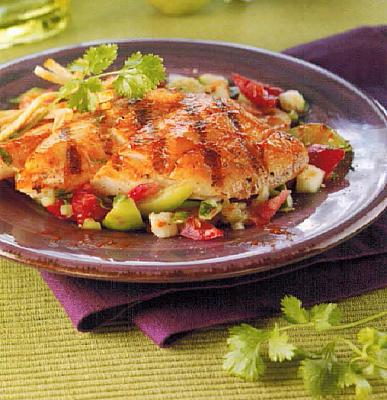 Spanish Grilled Flounder With Gazpacho Salsa BBQ Grill