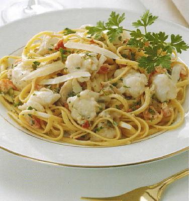 French Lobster Over Linguine Dinner