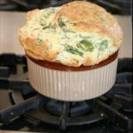French Spinach and Cheese Souffle Appetizer