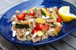 American Pasta with Seared Zucchini and Ricotta Salata Recipe Appetizer