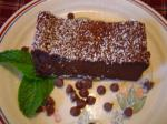 American Sinfully Rich Almost Flourless Chocolate Cake Dessert