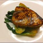 Asian Asian-glazed Swordfish with Baby Bok Choy Appetizer