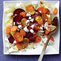 Italian Roasted Beet and Carrot Salad Appetizer