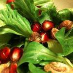American Salad with Pomegranate and Pistachio Nuts Appetizer
