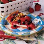 American Summer Berry Cheese Pie Dessert