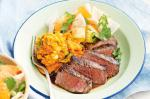 Japanese Japanesestyle Beef With Miso Mash And Daikon Salad Recipe Drink