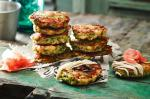 Japanese Mini Okonomiyaki japanese Pancakes Recipe Appetizer