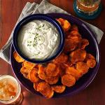 Canadian Spicy Sweet Potato Chips and Cilantro Dip Dessert
