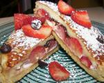 French Chocolate and Strawberry Stuffed French Toast 1 Dessert