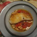 American Sea Bass with White Beans in Tomato-rosemary Broth Alcohol