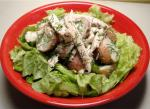 American Garlic Chicken  Potato Salad Dinner