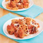 British A Fun Spin on Spaghetti and Meatballs Appetizer