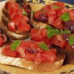 Italian Bruschetta with Pomidorem and Basil Appetizer