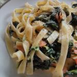 Australian Spinach and Smoked Salmon Fettucine Dinner