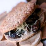 Australian Basing Vegetarian with Cheese and Mushrooms Appetizer