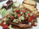 American Chicken With Tomato  Cucumber Salsa Dinner
