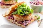 Australian Grilled Chicken Burger With Red Cabbage Coleslaw Recipe Breakfast
