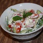 Australian Cucumber and Tomato Salad with Mint Appetizer