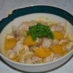 American Chicken with Apples in White Wine Appetizer