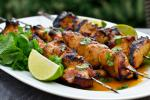 Thai Grilled Honey Lime and Sriracha Chicken Skewers Dinner