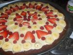 Brownie Banana Split Pizza  recipe