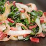 British Red Chard and Caramelized Onions Recipe Appetizer