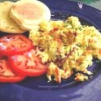 Canadian Scrambled Eggs with Smoked Wild Salmon Breakfast