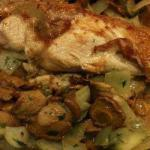 American Chicken Breasts to Champignon and White Wine Appetizer